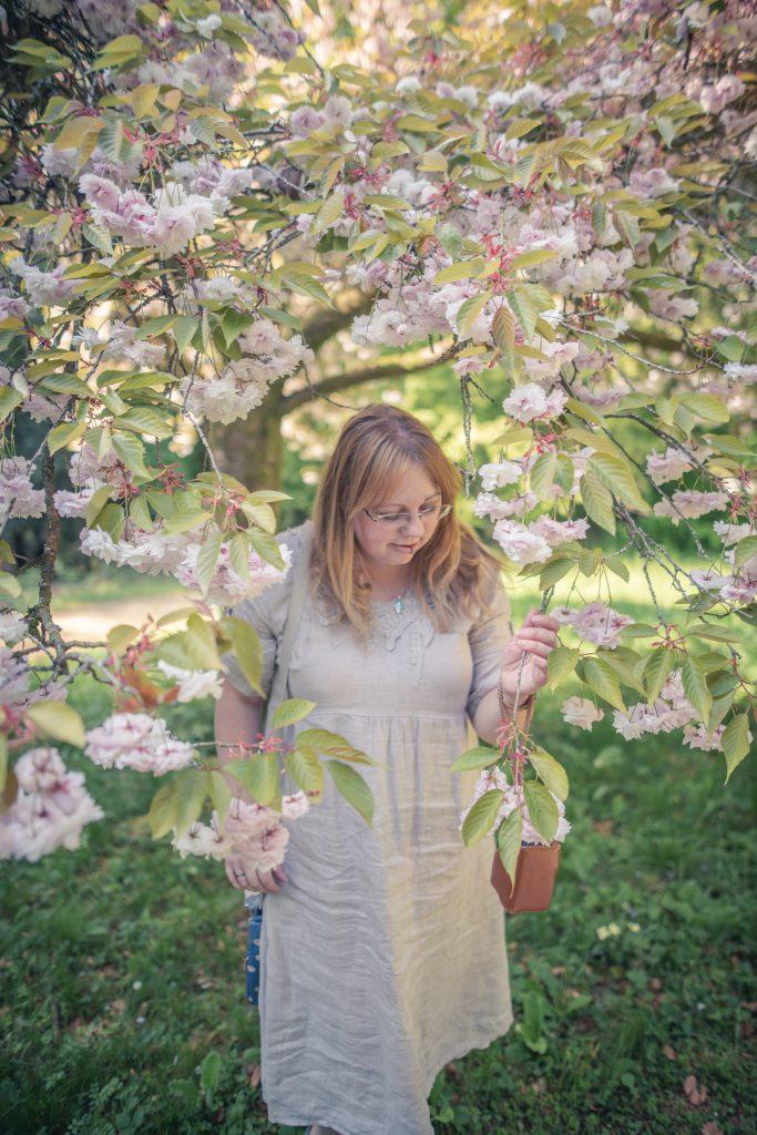 Styling a linen lagenlook dress