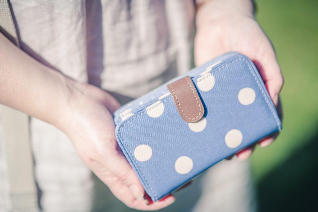 Cath Kidston blue spotty purse