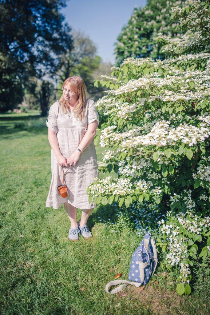 styling a mori girl linen dress