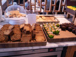 food at premium lounge at Heathrow