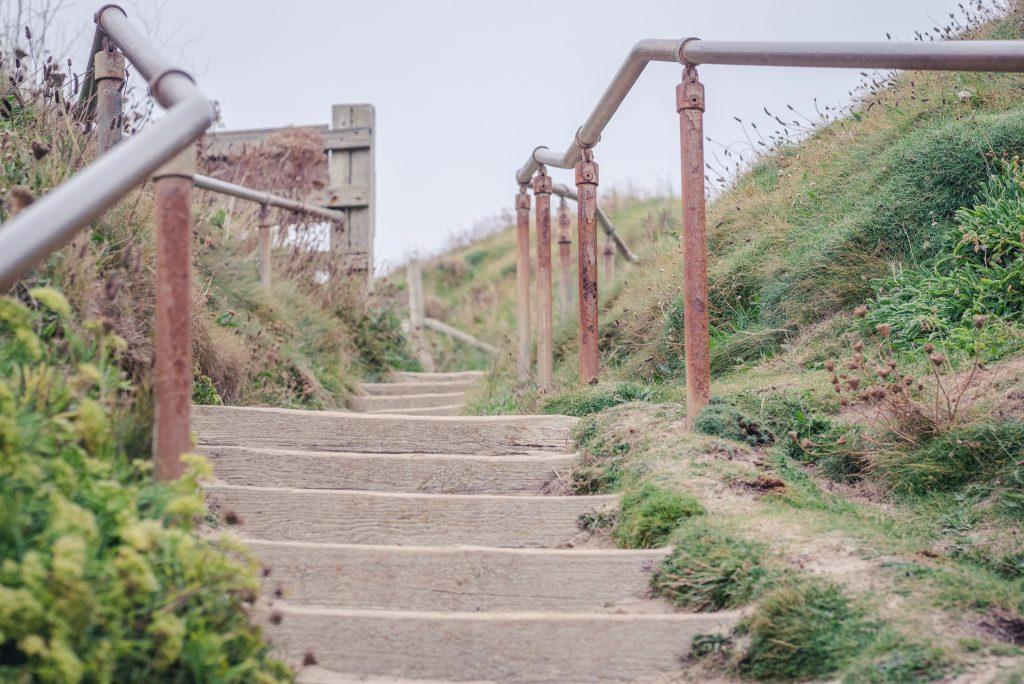 Steps at Godrevy Beach