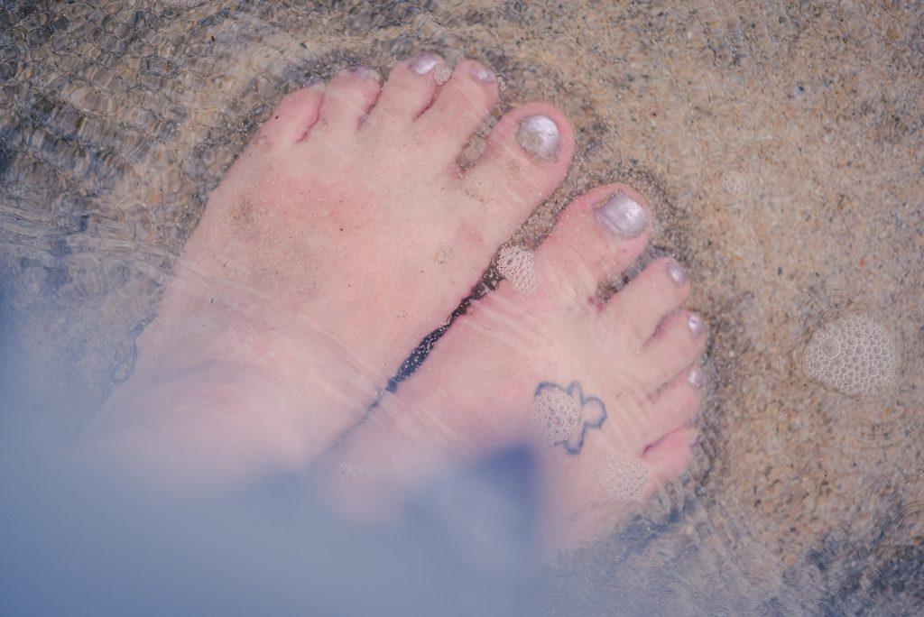 Swimming at Godrevy beach