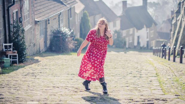 styling a vintage red dress