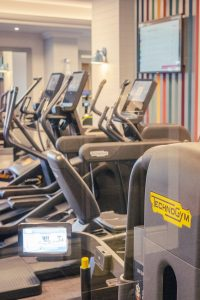 The gym at the Aztec hotel and spa near Bristol