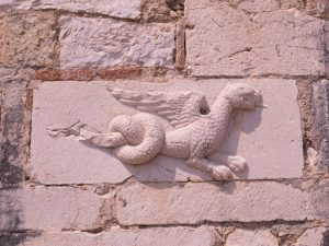 dragon relief stone carving at St Nicholas monastery Mesopotam