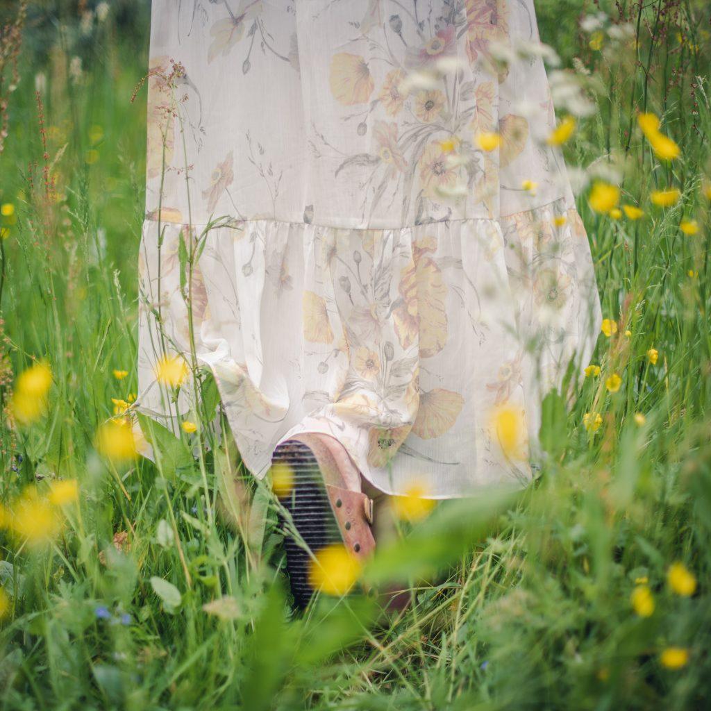 yellow poppy h&m dress