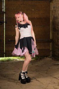 handmade pastel goth dress