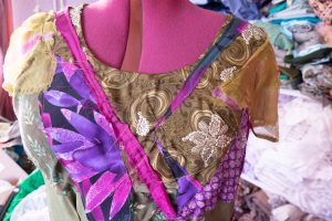 making a bohemian wedding dress