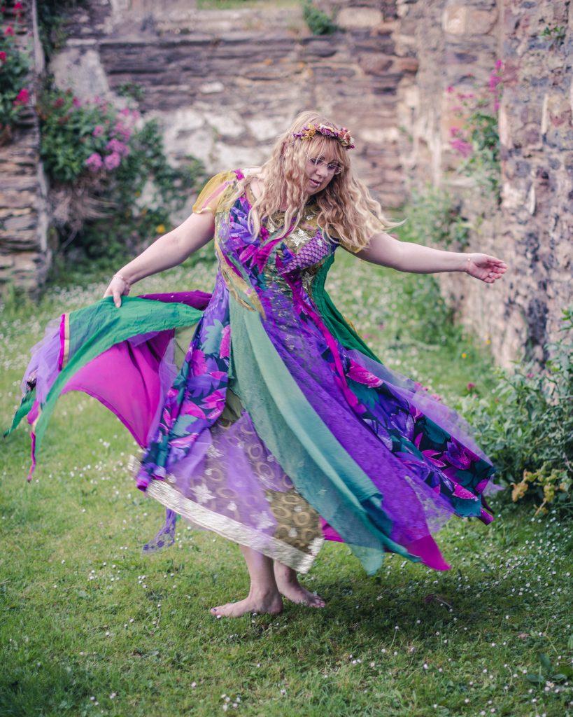 bohemian fairytale ball gown