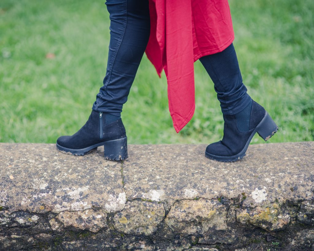 New Look black suede ankle boots
