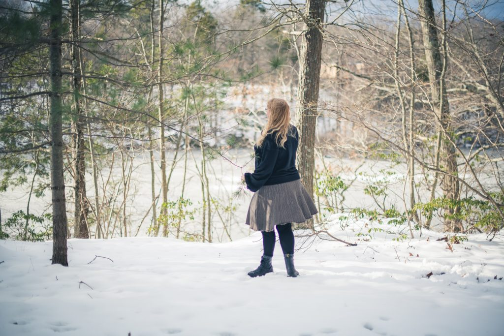 Styling the Dr Martens Trevonna boots in the snow