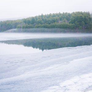 Saville Dam frozen