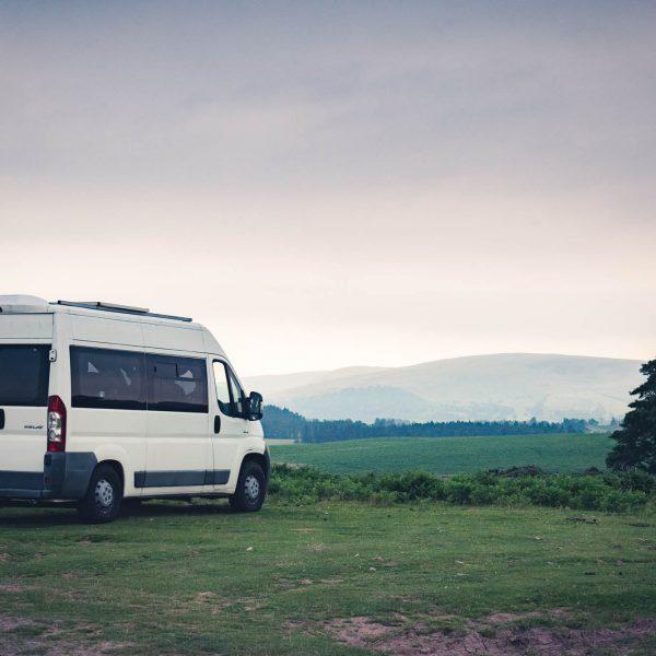 camper van in Wales